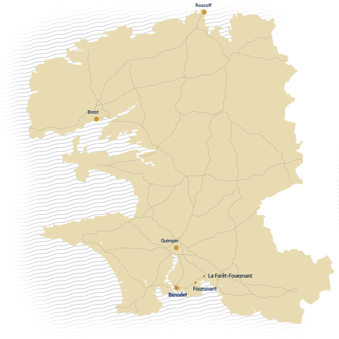 Map of Finistère